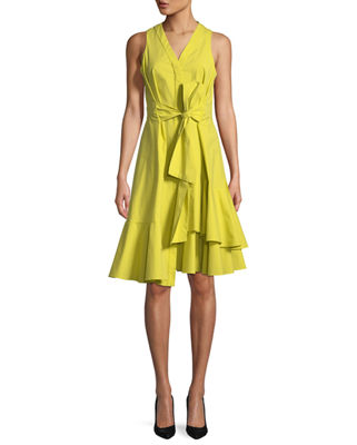Josie Natori Poplin Sleeveless Dress