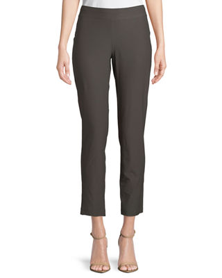 Image 1 of 3: Washable Stretch-Crepe Slim Ankle Pants, Petite