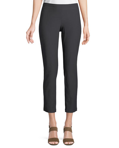 Eileen Fisher Petite Washable Stretch-Crepe Slim Ankle Pants