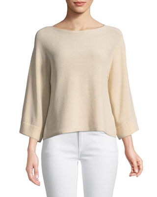 Bell-Sleeve Recycled Nylon Cord Sweater