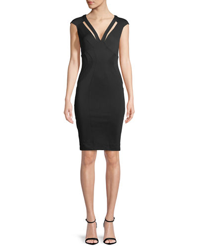 Joni V-Neck Cutout Cocktail Dress