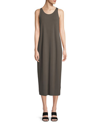 Eileen Fisher Sleeveless Jersey Maxi Dress