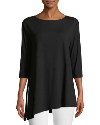 Eileen Fisher Viscose Jersey Asymmetric Top