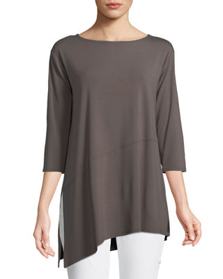 Eileen Fisher Viscose Jersey Asymmetric Top, Petite