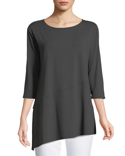 Eileen Fisher Viscose Jersey Asymmetric Top and Matching