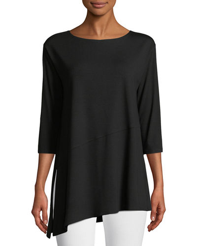Viscose Jersey Asymmetric Top, Plus Size