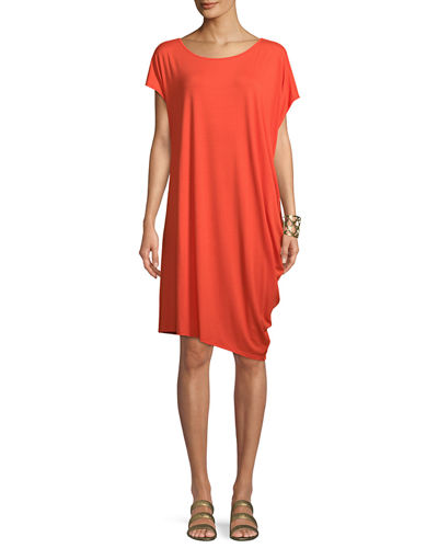 Asymmetric Lightweight Jersey Dress