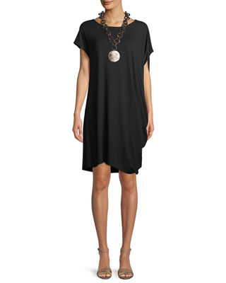 Eileen Fisher Asymmetric Lightweight Jersey Dress, Plus Size