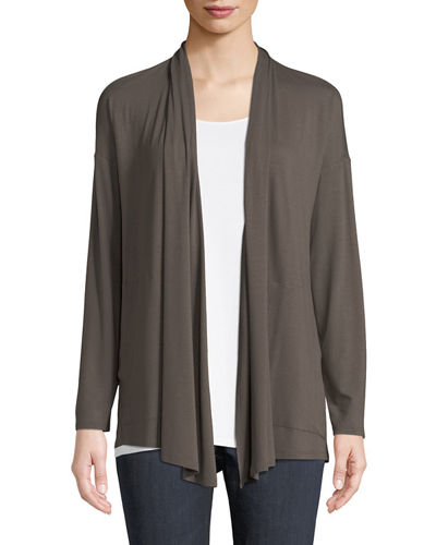 Eileen Fisher Lightweight Viscose Jersey Kimono Cardigan and