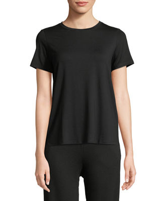 Eileen Fisher Short-Sleeve Lightweight Jersey Top, Petite