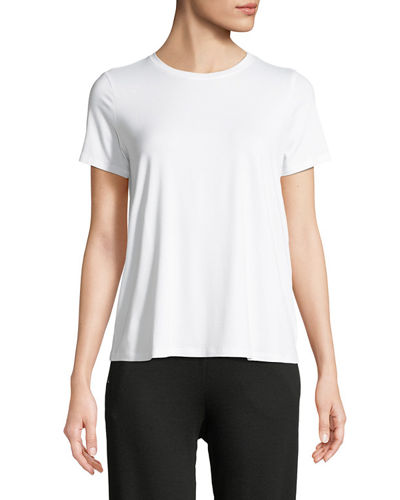Petite Short-Sleeve Lightweight Jersey Top