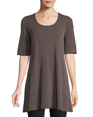 Silk Jersey Swing Tunic
