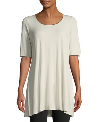 Eileen Fisher Silk Jersey Swing Tunic and Matching