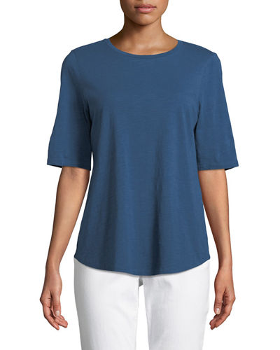 Organic Cotton Slub Top, Petite