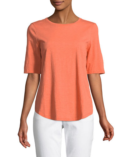 Eileen Fisher Organic Cotton Slub Top, Petite and