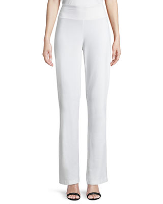 Image 1 of 4: Stretch Crepe Boot-Cut Pants