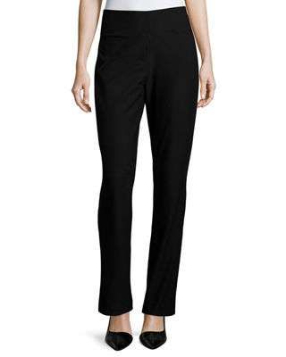 Eileen Fisher Stretch Crepe Boot-Cut Pants, Petite