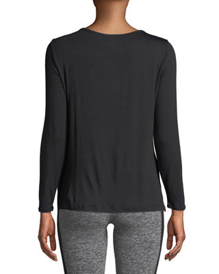 Image 2 of 4: Cross Me Once Long-Sleeve Pullover Top