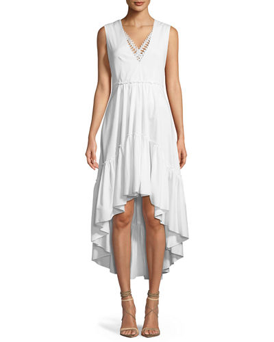 Sondra V-Neck High-Low Dress