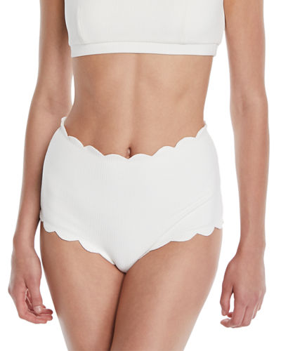 cfc1ebe59ad31 Quick Look. Marysia · Santa Monica High-Waist Scalloped Swim Bikini Bottom