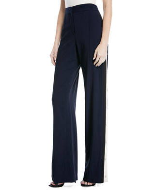 Veronica Beard Mid-Rise Wide-Leg Pants