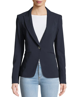Veronica Beard Simone Dickey One-Button Jacket