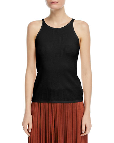 Elizabeth and James Berta Crewneck Waffle-Knit Tank and