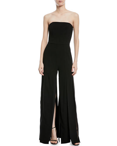 Strapless Strips Jumpsuit