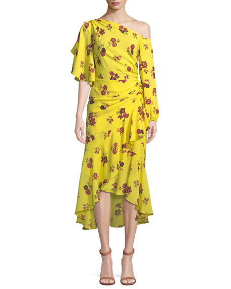 Shop Womens Florence Floral Silk Dress A.L.C. Ebay For Sale gB7wqOpgq