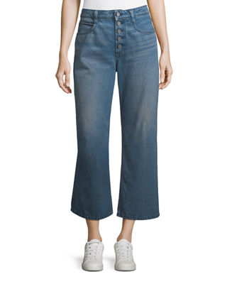 A.L.C. Montag Cropped Wide-Leg Cotton Pants