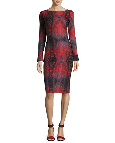 Darsey Geometric-Print Cocktail Dress