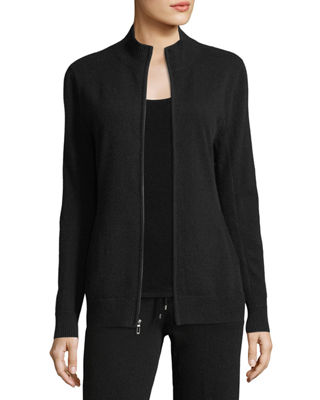 Neiman Marcus Cashmere Collection Cashmere Zip-Front Jacket