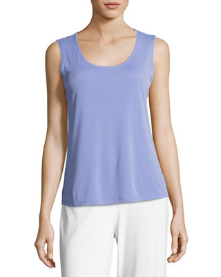 Eileen Fisher Silk Jersey Tank Top, Petite and