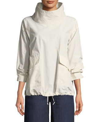 Eileen Fisher Organic Cotton/Nylon Pullover Jacket