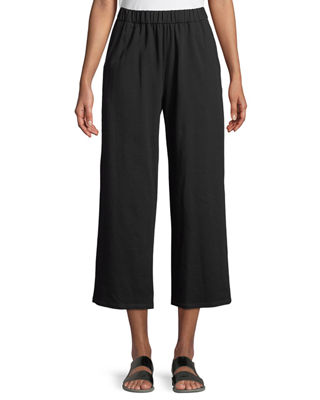 Eileen Fisher Slouchy Cropped Organic Slub Jersey Pants