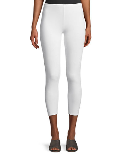 Stretch Jersey Cropped Leggings, Petite