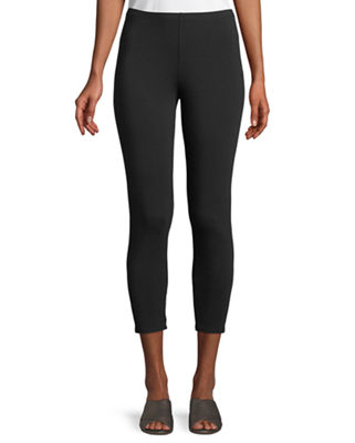 Eileen Fisher Stretch Jersey Cropped Leggings, Plus Size