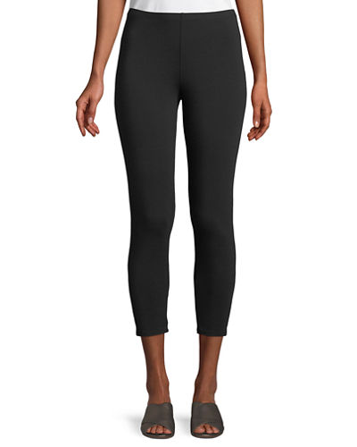 Stretch Jersey Cropped Leggings, Plus Size