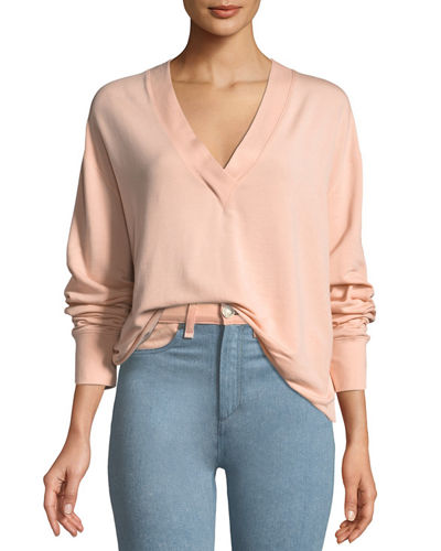 Flora V-Neck Long-Sleeve Pullover