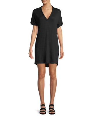 Rosalind V-Neck Short-Sleeve Dress