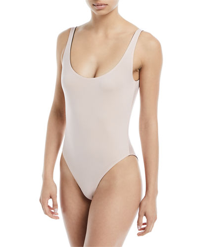 Lana Scoop-Neck Reversible One-Piece Swimsuit