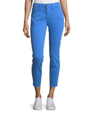 FRAME Le High Skinny-Leg Jeans w/ Raw-Edge Hem