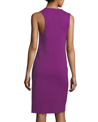 Image 2 of 3: Scoop-Neck Sleeveless Asymmetric Tank Dress