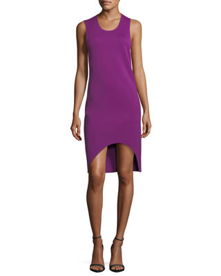 Image 1 of 3: Scoop-Neck Sleeveless Asymmetric Tank Dress
