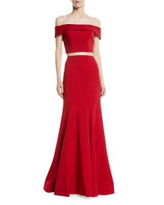 Image 1 of 3: Matte Jersey Two-Piece Gown