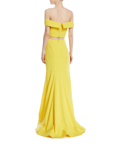 Matte Jersey Two-Piece Gown