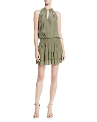 Mackinley Sleeveless Shirred Short Dress