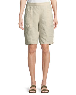 Eileen Fisher Organic Linen City Shorts