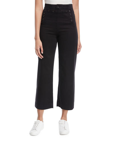 Pierce High-Waist Wide Leg Cropped Sailor Pants