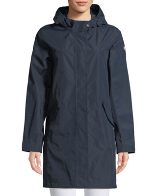 Barbour Hartland Long Jacket w/ Hood